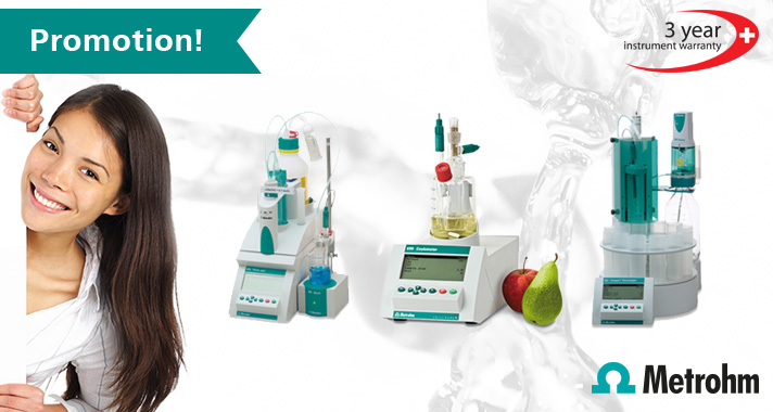 Special Promotion: Upgrade your Titrino Plus, Coulometer or Compact Titrosampler and save