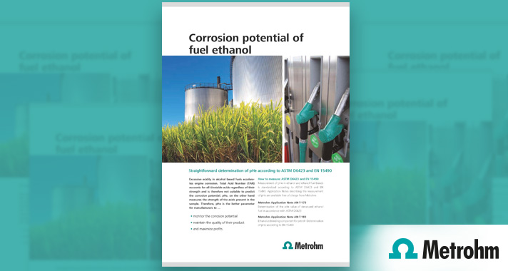 Knowing the real corrosion potential of fuel ethanol – measuring pHe according to ASTM D6423