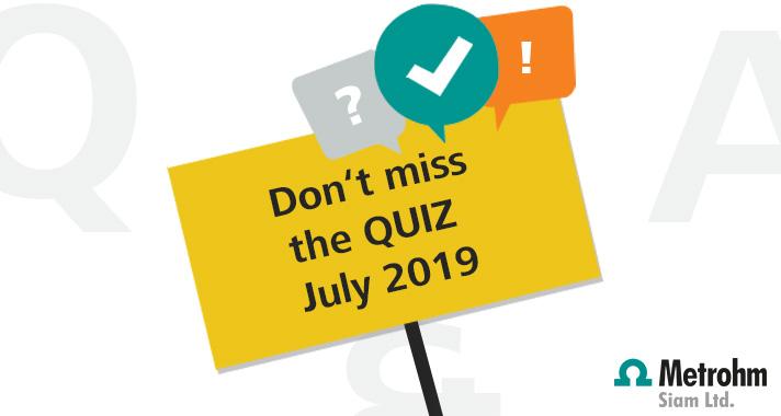 July 2019 Quiz